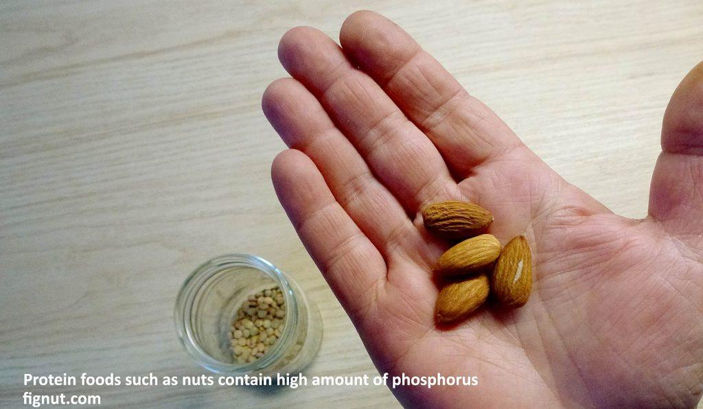 few almonds