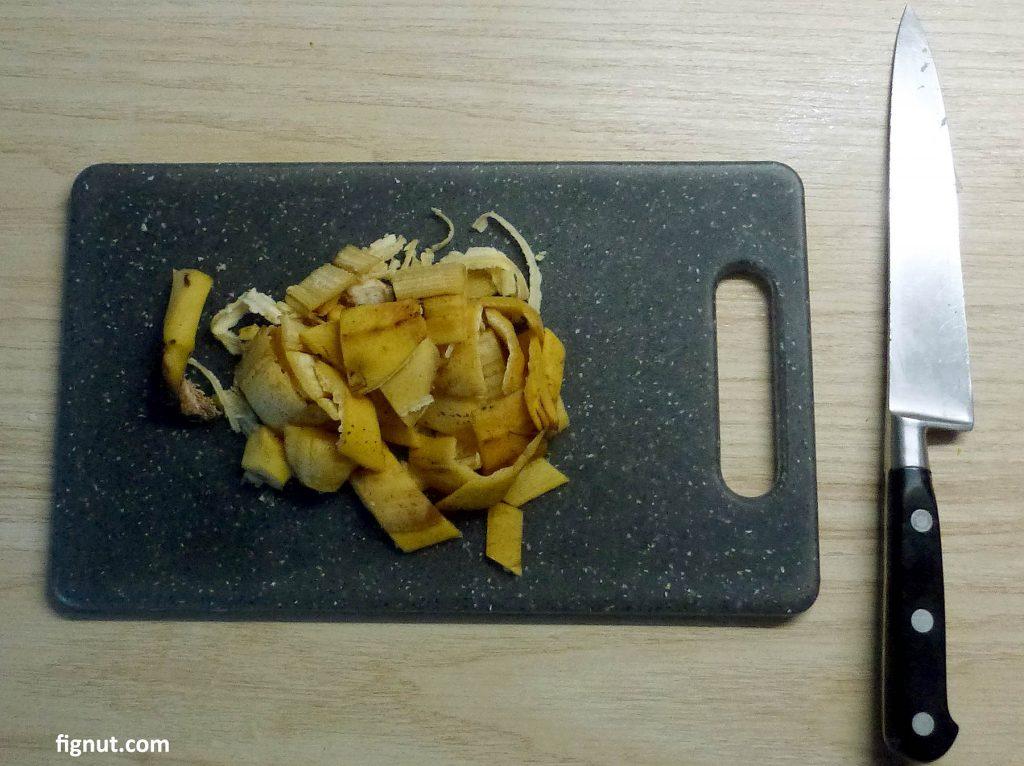 Banana peels for potassium