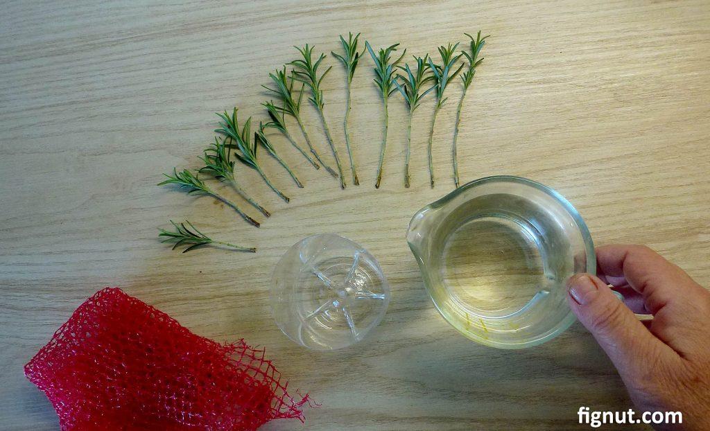 Prepare container and plastic mesh